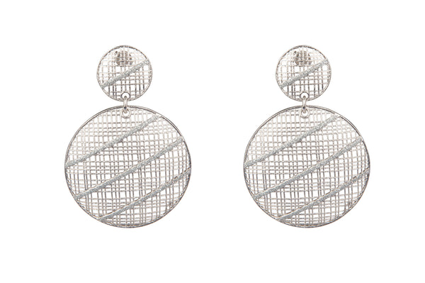 Sterling Silver Hashtag Earrings
