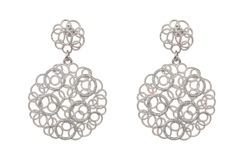 Lace Filigree Silver Earrings