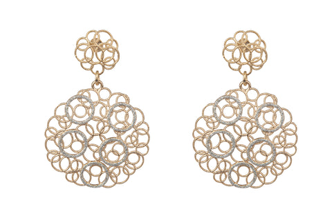 Lace Filigree Gold Earrings