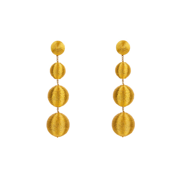 Gumball Gold Drop Earrings