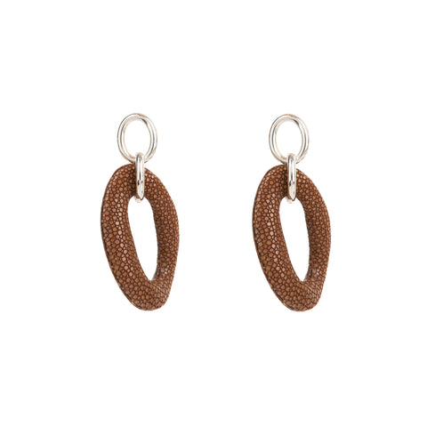 Stingray Open Twist Earrings