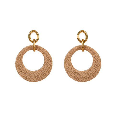 Stingray Open Disc Earrings