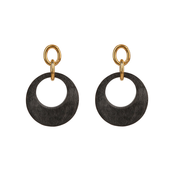 Grey Horn Earrings