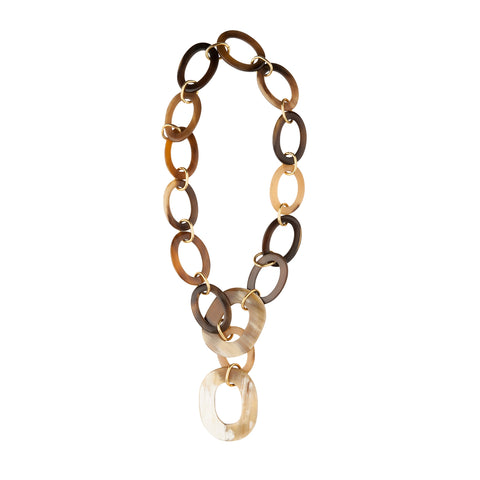 Horn Gold Link Necklace