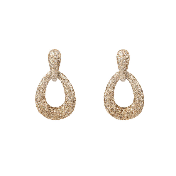 Sparkle Open Teardrop Earring
