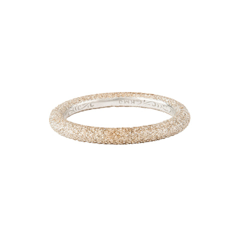Sparkle Dust Oval Silver Bangle