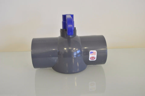 "1.5"" King Brothers PVC Ball Valve P/N EBVG-1500SV"