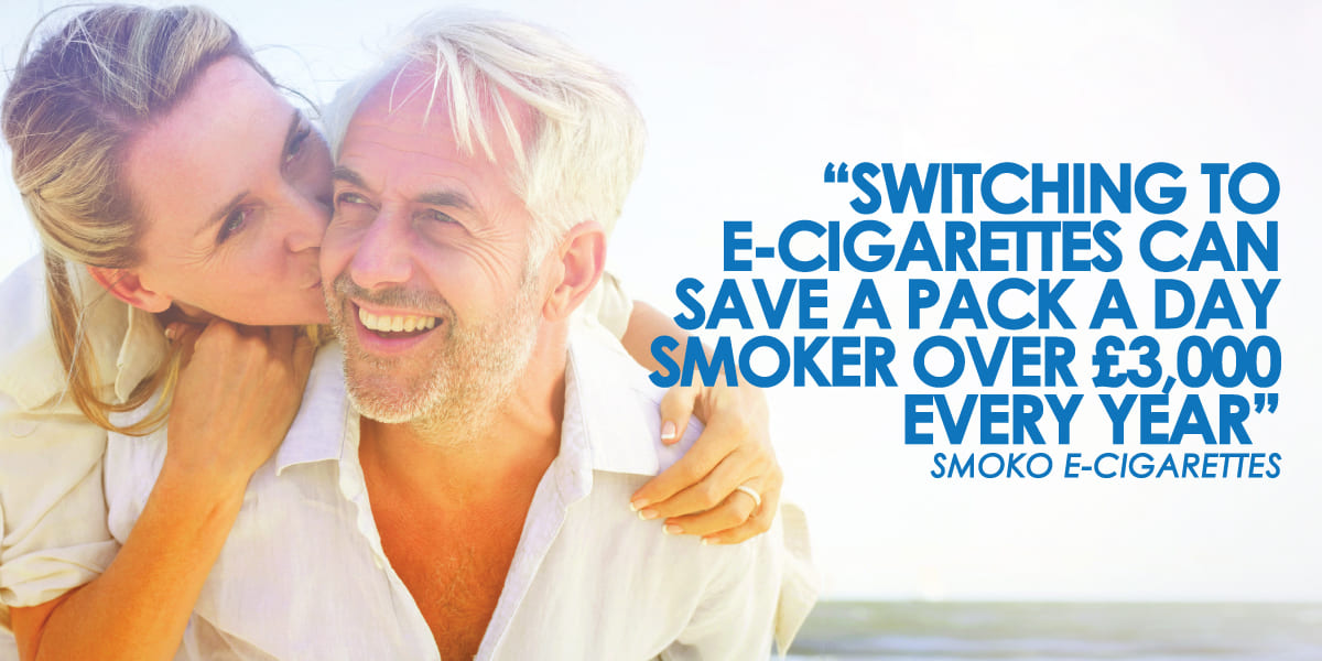 switching to e-cigarette can save you over £3000 every year compared to traditional cigarettes