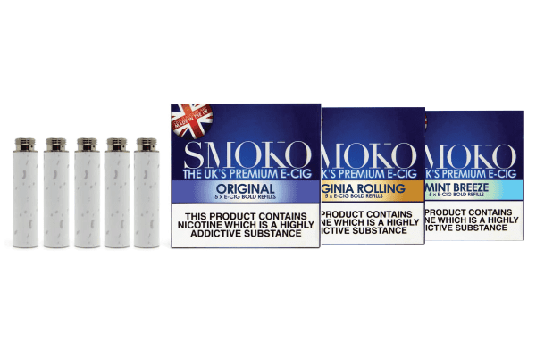 The SMOKO E-Cigarette refills comes in a wide range of realistic flavours and strengths