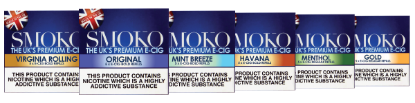 wide range of e-cigarette flavours and strengths to choose from