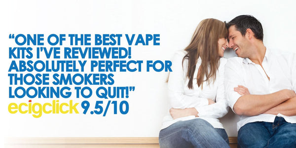 """leading e-cigarette review site says """"SMOKO is one of the best vape kits I have reviewed.  Perfect for someone looking to quit"""""""