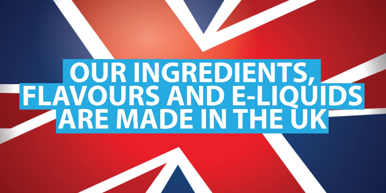 SMOKO uses the high quality, pharmaceutical-grade flavours and ingredients in our e-liquids that are all MADE IN THE UK