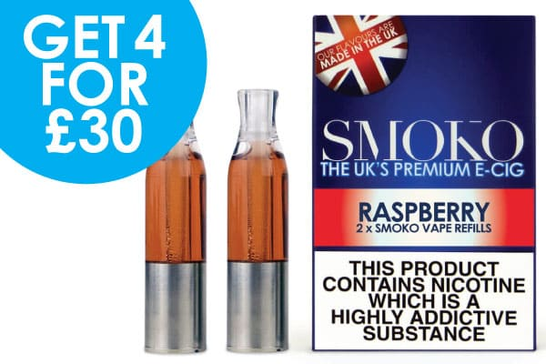 4 packs of vape pods for £30 with FREE UK Shipping