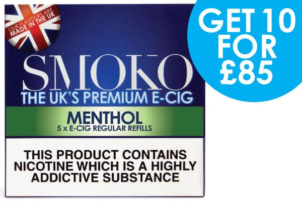 10 packs of e-cigarette cigalike refills + 1 Accessory + FREE UK delivery for £85