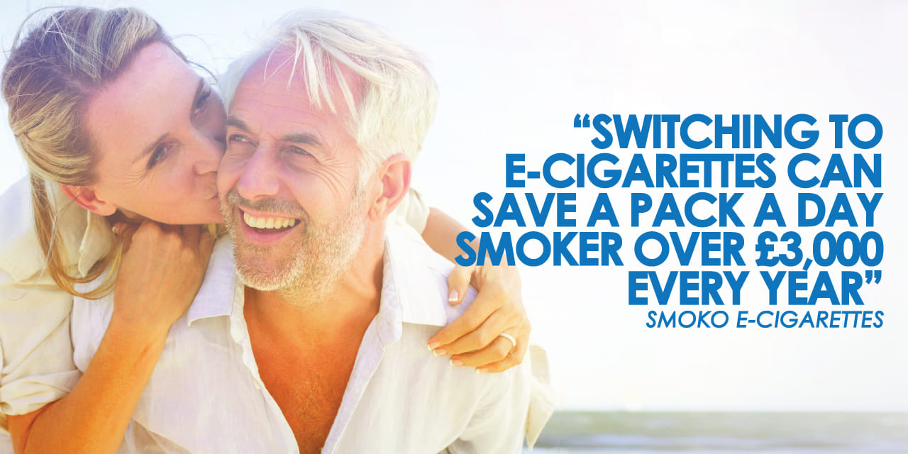 switching to vaping can save a heavy smoker using a pack a day up to £3000 a year