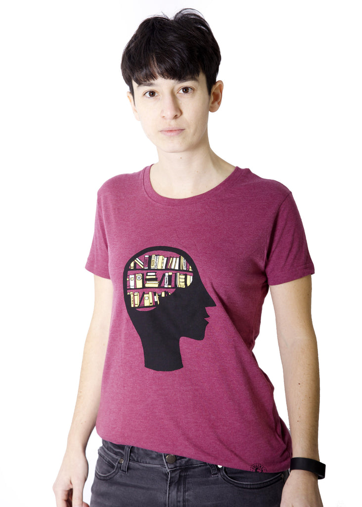Fair-trade t-shirt promoting literacy. Made from 100% recycled material.