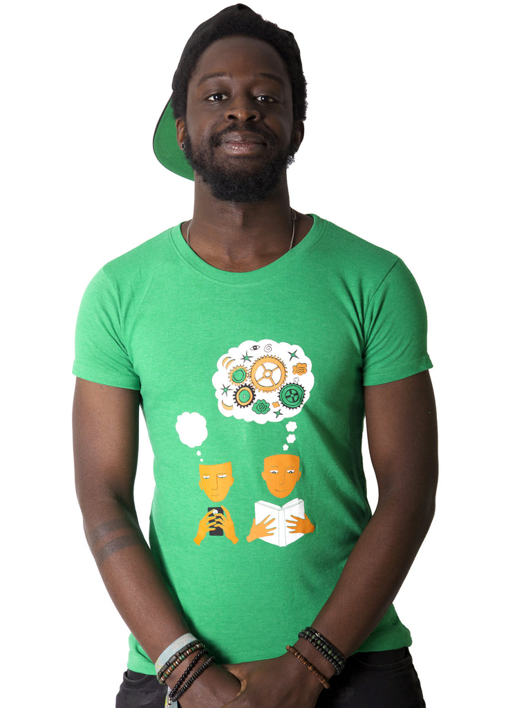100% recycled t-shirt - Literacy js17js