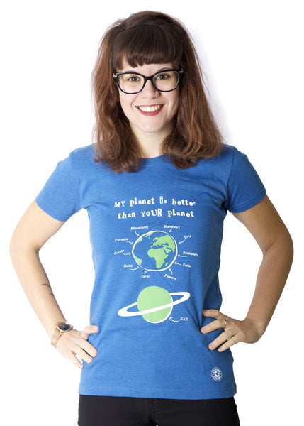 Eco-friendly t-shirt promoting ecology. T-shirts for activists.