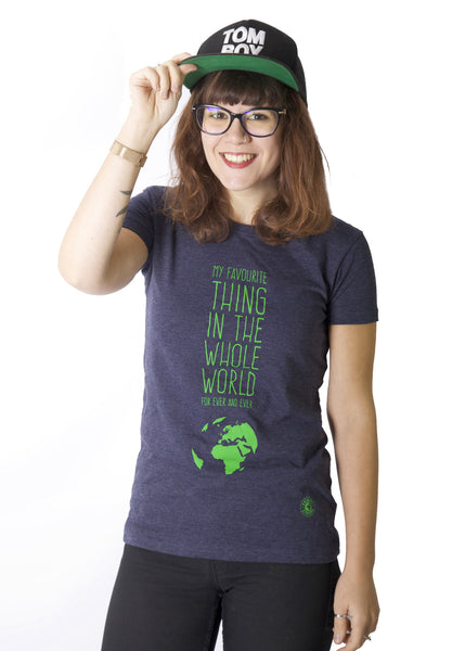Eco-friendly t-shirt promoting ecology.