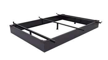 "7.5"" Height King Metal Bed Base in Black"