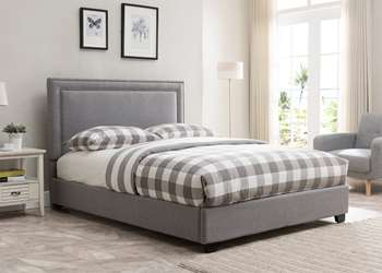 Baffin Platform Bed - King, Grey