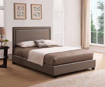 Banff Platform Bed - King, Taupe