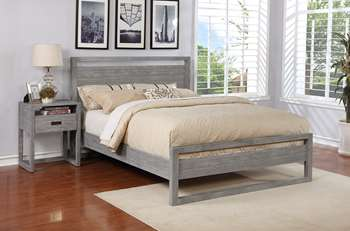 Vadstena Platform Bed - California King, Grey