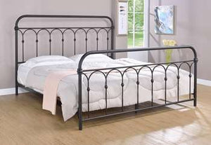 Hallwood Metal Bed - King, Rust Black