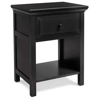 Cottage Style Nightstand in Ebony Finish