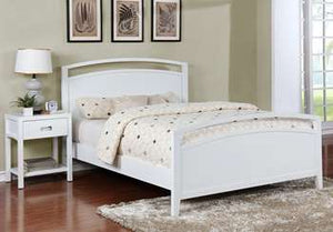 Reisa Platform Bed - Queen, Gloss White