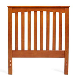 Full/Queen Rake Style Headboard in Golden Oak Finish