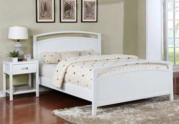 Reisa Platform Bed - Full, Gloss White
