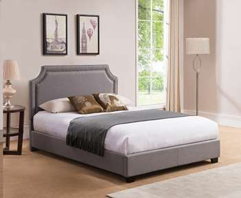 Brossard Platform Bed - King, Grey