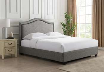 Grayling Platform Bed - King, Granite Grey