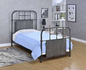 Coeburn Metal Bed - Twin, Antique Black
