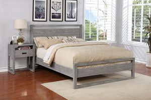 Vadstena Platform Bed - Full, Grey