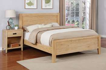 Alvesta Platform Bed - King, Natural