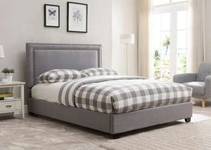 Baffin Platform Bed - Queen, Grey