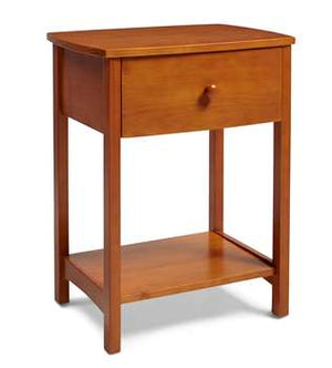 Rake Style Nightstand in Golden Oak Finish