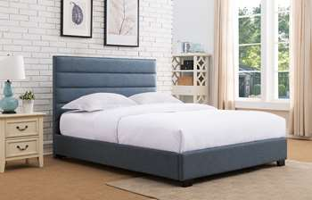 Delton Platform Bed - King, Blue
