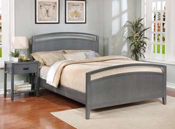 Reisa Platform Bed - Full, Flat Grey