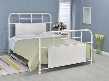 Cheriton Metal Bed - Queen, Antique White