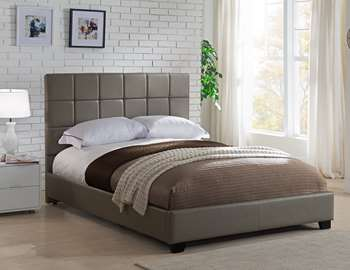 Kenora Platform Bed - Queen, Taupe