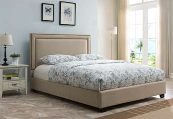 Banff Platform Bed - Queen, Taupe Linen