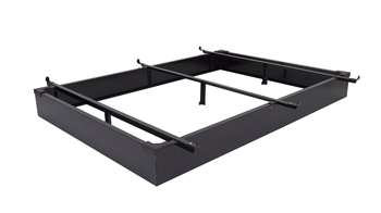 "7.5"" Height Full / Full XL Metal Bed Base in Black"