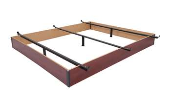 "7.5"" Height California King Wood Bed Base in Cherry Finish"