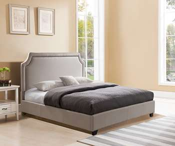 Brossard Platform Bed - Queen, Taupe