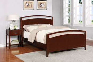 Reisa Platform Bed - Queen, Espresso Brown