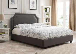 Brantford Platform Bed - Queen, Charcoal