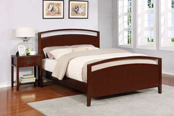 Reisa Platform Bed - Full, Espresso Brown